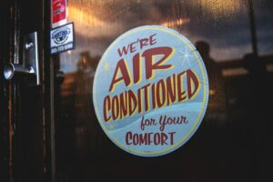 air conditioning repair services sign
