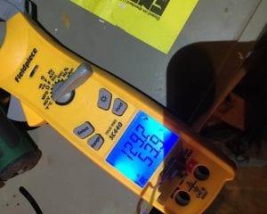 close up of volt meter