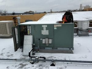 commercial ac unit on roof
