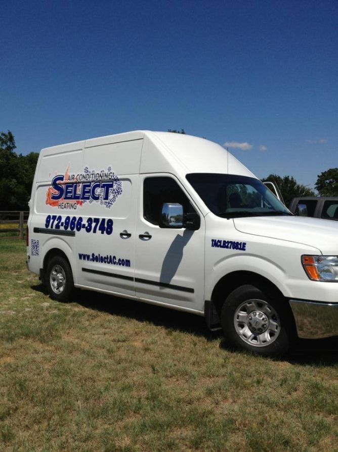 close up of select ac truck